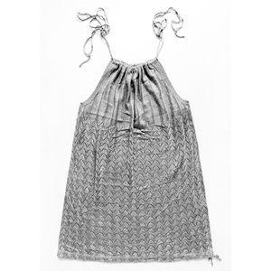 Loose Knit Tie String Shoulder & Hem Halter Dress